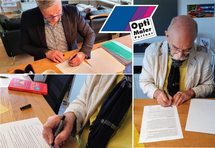 Vertragsunterzeichnung Opti-Maler-Partner mit MHK Group